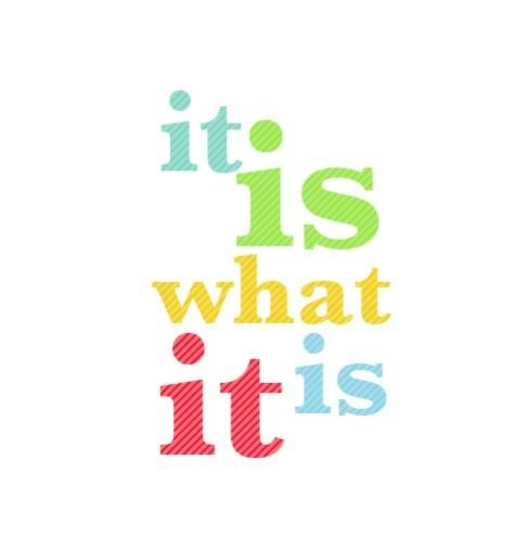 It is