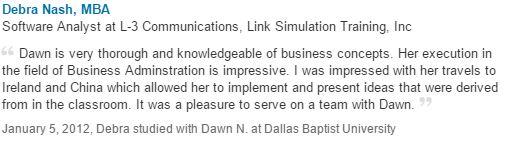 Debra Nash Recommendation